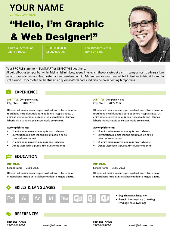 Astoria Modern Yet Simple Free Resume Template