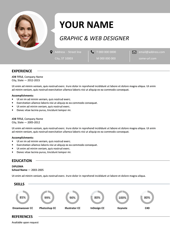 ... Centrum Free Resume Template Microsoft Word   Gray Layout ...  Resume Layout Microsoft Word