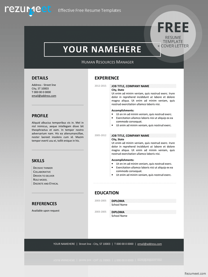 jordaan clean resume template. Black Bedroom Furniture Sets. Home Design Ideas