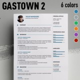 Gastown2 Free Professional Resume Template For MS Word  Free Professional Resume Templates