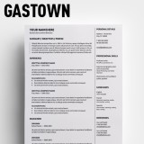 Gastown2 Free Traditional Resume Template for MS Word