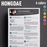 hongdae free modern resume template for ms word