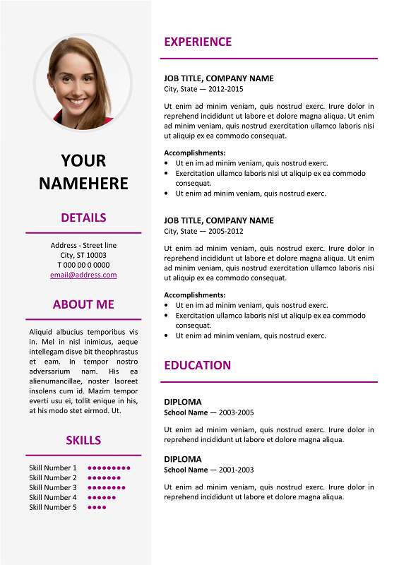 Ikebukuro-Elegant-Resume-Template-Purple Open Single Letter Templates on sample business, basic cover, sample resignation, sample request,