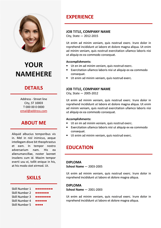 elegant resume templates word
