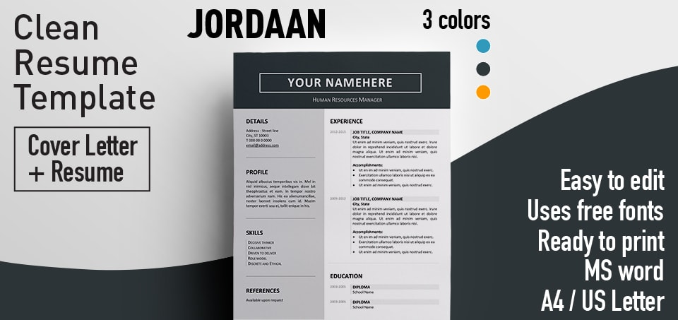 Jordaan - Clean Resume Template
