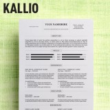 Kallio - Free simple resume template for Microsoft Word (DOCX)
