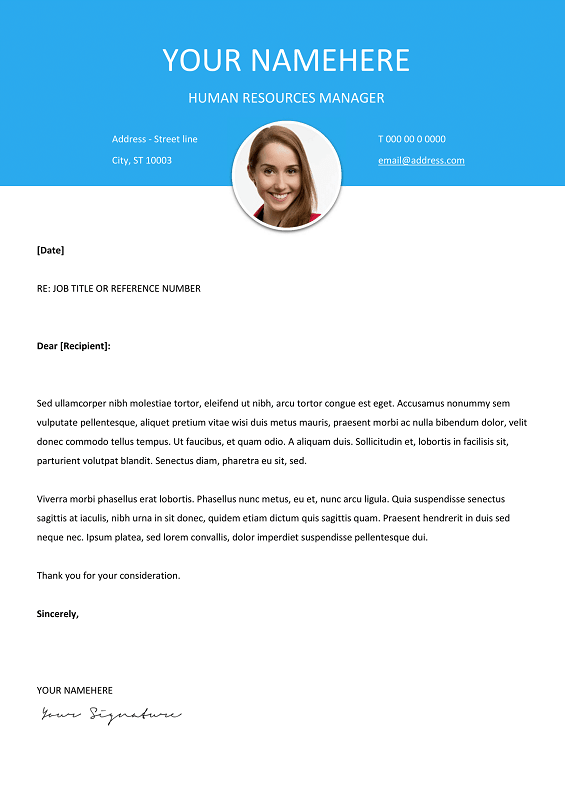 Free cover letter template, reed co uk