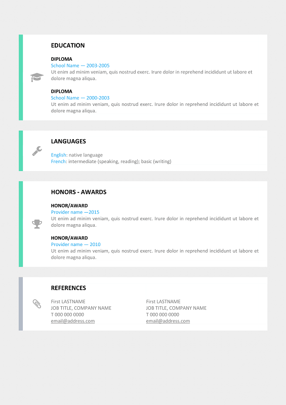 ... Le Marais Free Modern Resume Template For Word (DOCX) ...