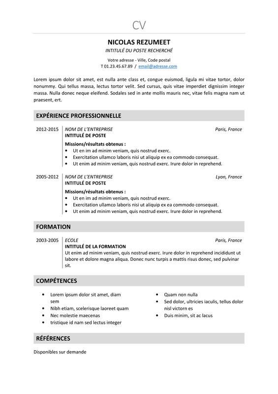 Nakameguro  Modèle De Cv Classique Et Elegant  Rezumeetcom. Resume Building Ideas. Cover Letter For Resume Doc. Apa Cover Letter Generator. Curriculum Vitae Pdf Formato. Cover Letter For Retail Assistant With Experience. Resume Help Osu. Cover Letter For Job Driver. Cover Letter Key Account Manager