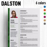 Dalston Free Resume Template Microsoft Word  Microsoft Word Free Resume Templates