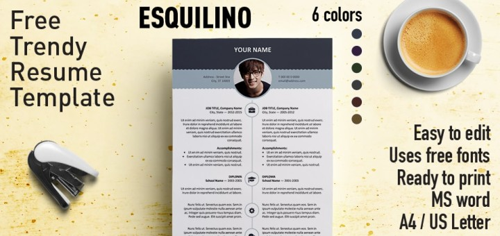 esquilino free resume template microsoft word - Free Modern Resume Templates For Word