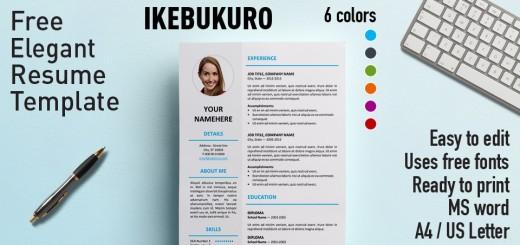 Ikebukuru Elegant Resume Template