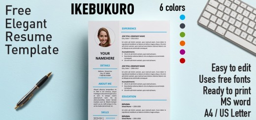 Elegant template and resume